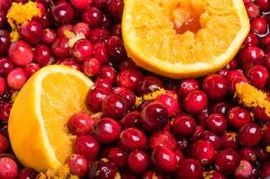 cranberries and oranges