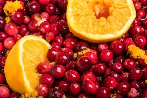cranberries and oranges