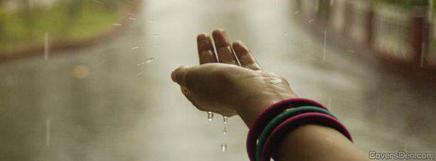 hand in rain