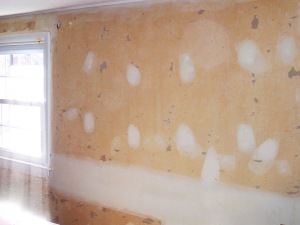 Spackled walls