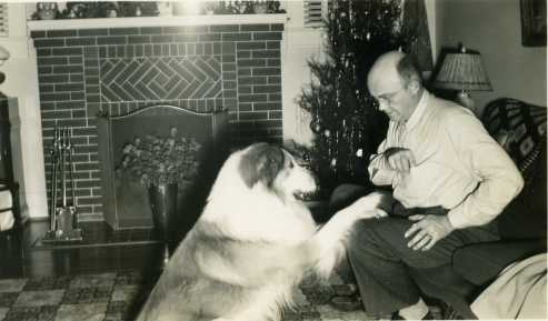 Daddy with dog