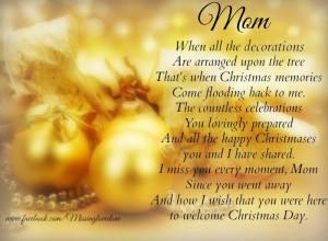 Missing Mom Christmas