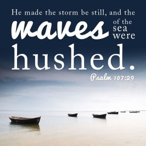 Calms the storm