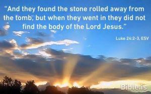 Luke 24 2-3